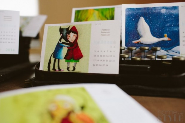 Illustrated Calendar at Home and Style