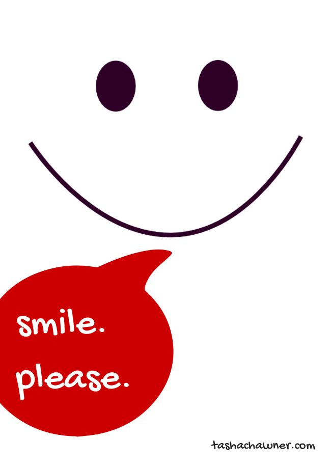 Please smile poster