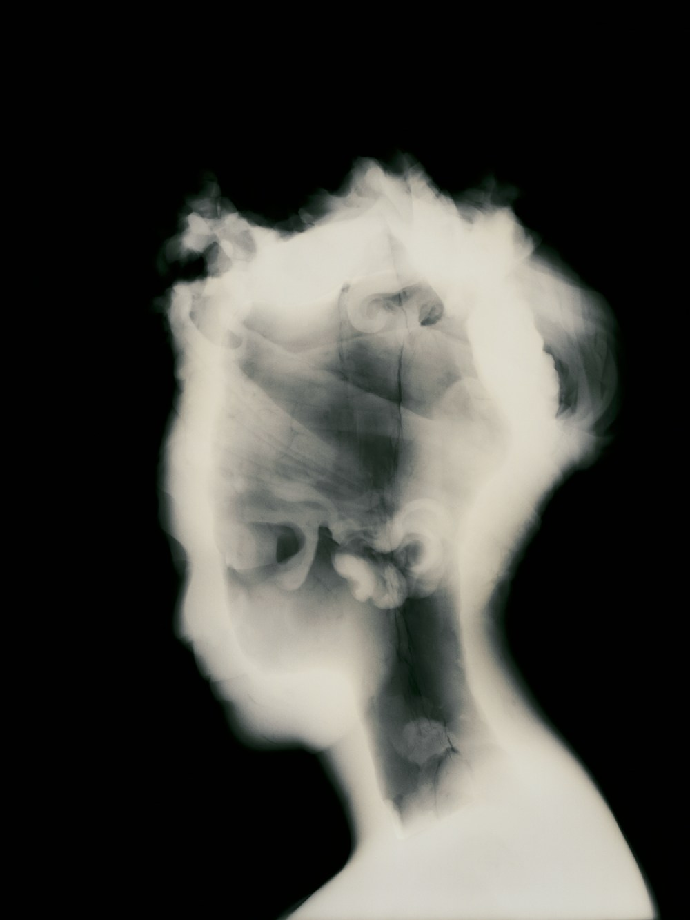 x-ray photograph of antique statue