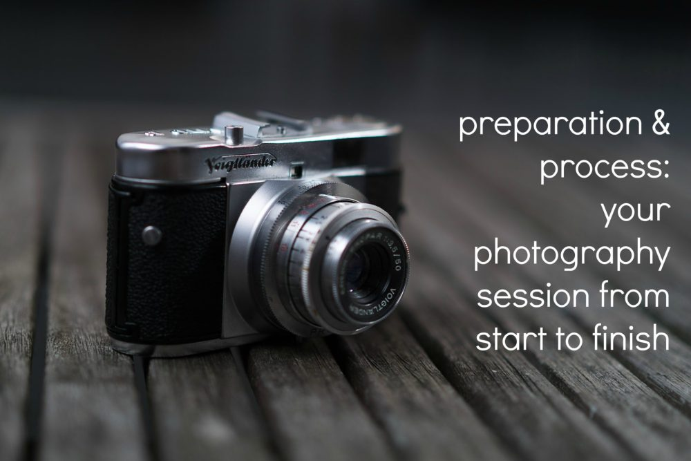 how your photography session with photography by tasha chawner will proceed