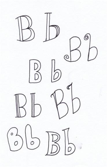 A Letter a Day: B © Tasha Goddard 2014 www.tashagoddard.com