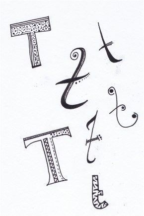 A Letter a Day: T © Tasha Goddard 2014 www.tashagoddard.com