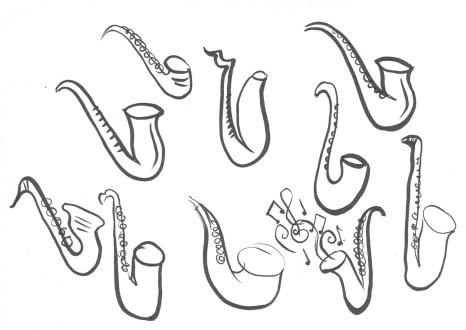 A Mini a Day: Saxophones © Tasha Goddard www.tashagoddard.com