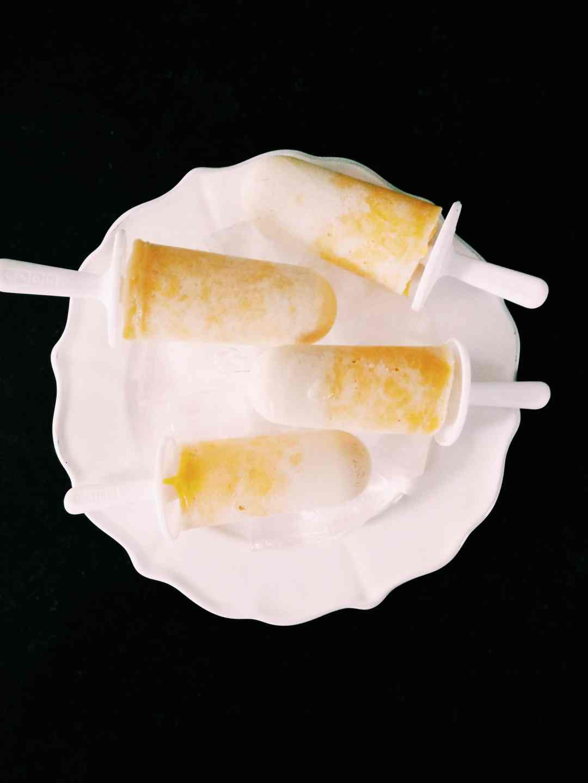 Mango Coconut Popsicles healthy easy summer recipe