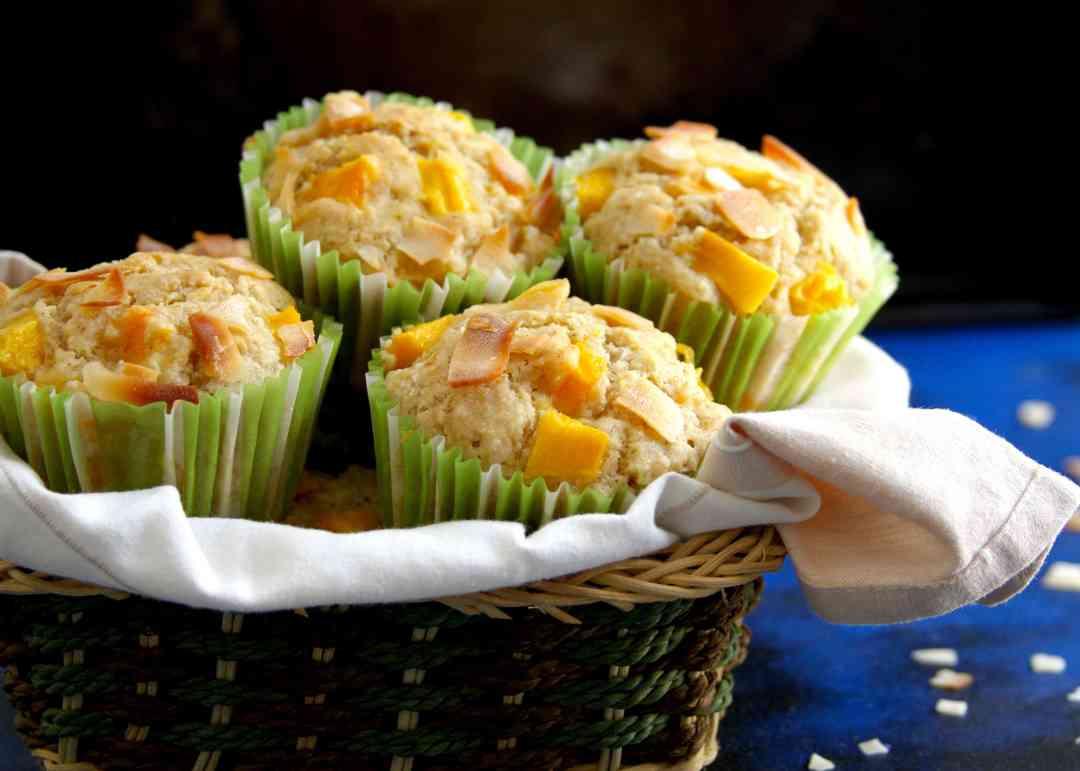 Mango Coconut Muffins easy delicious recipe