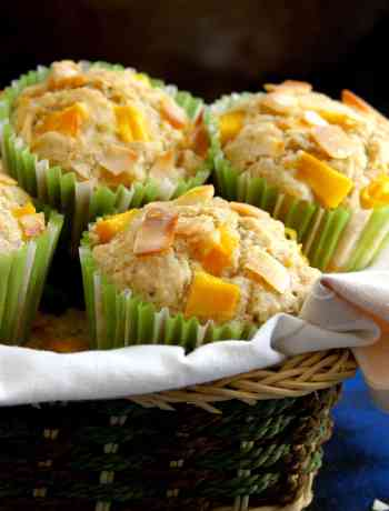 Mango Coconut Muffins easy delicious recipe