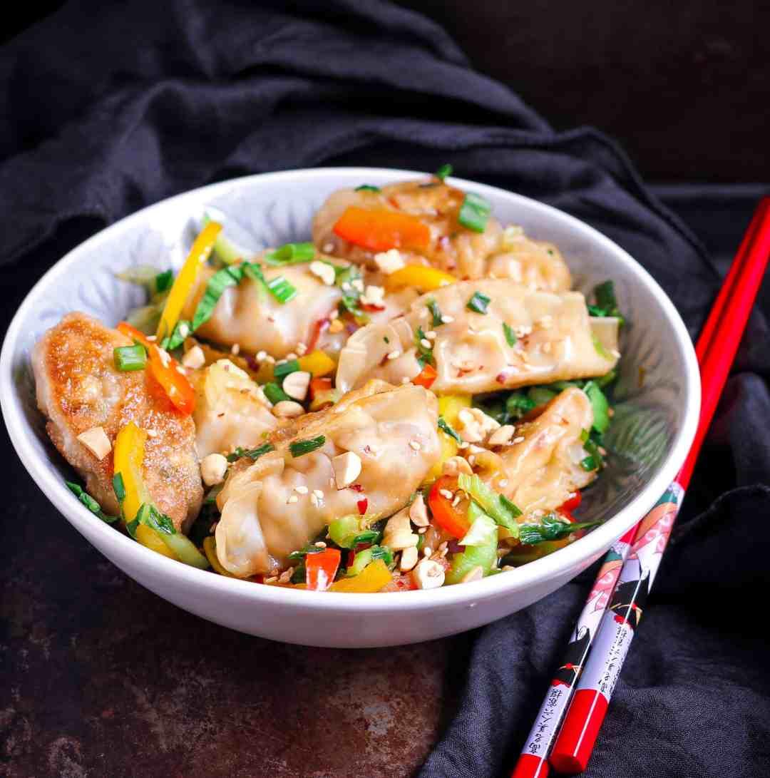 Tofu Potstickers vegan healthy vegetarian easy recipe