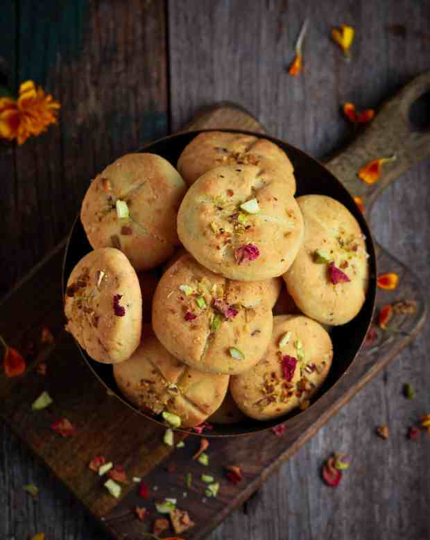 Nankhatai Indian Shortbread Cookies Eggless Cardamom Festive Foods