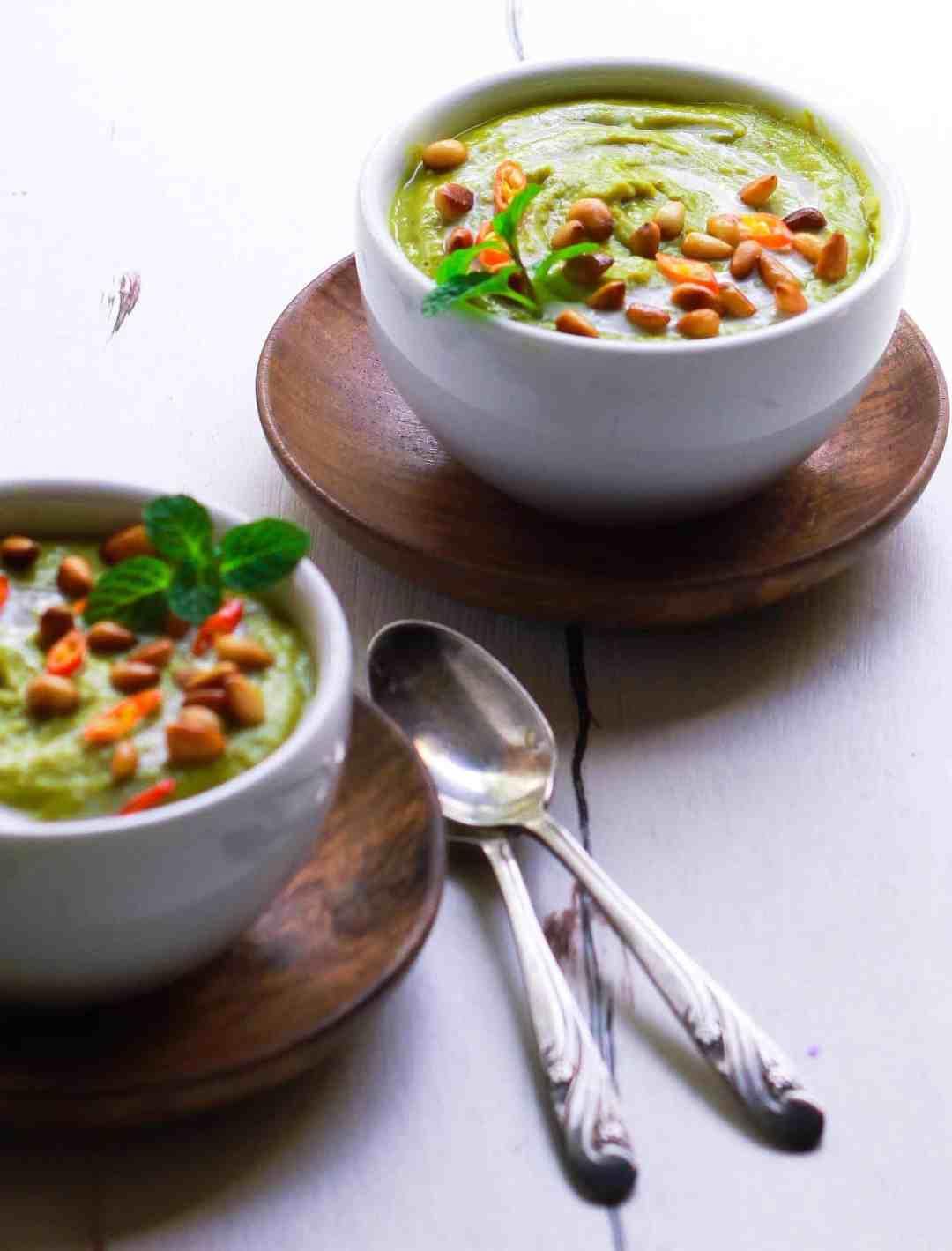 Creamy Pea Soup vegan dairyfree glutenfree healthy easy recipe