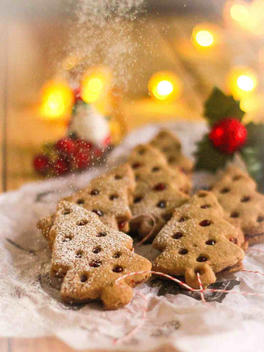 Lemon Buckwheat Linzer Cookies vegan glutenfree Christmas baking