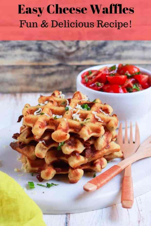 Easy Cheese Waffles | Savory Healthy Easy Recipe