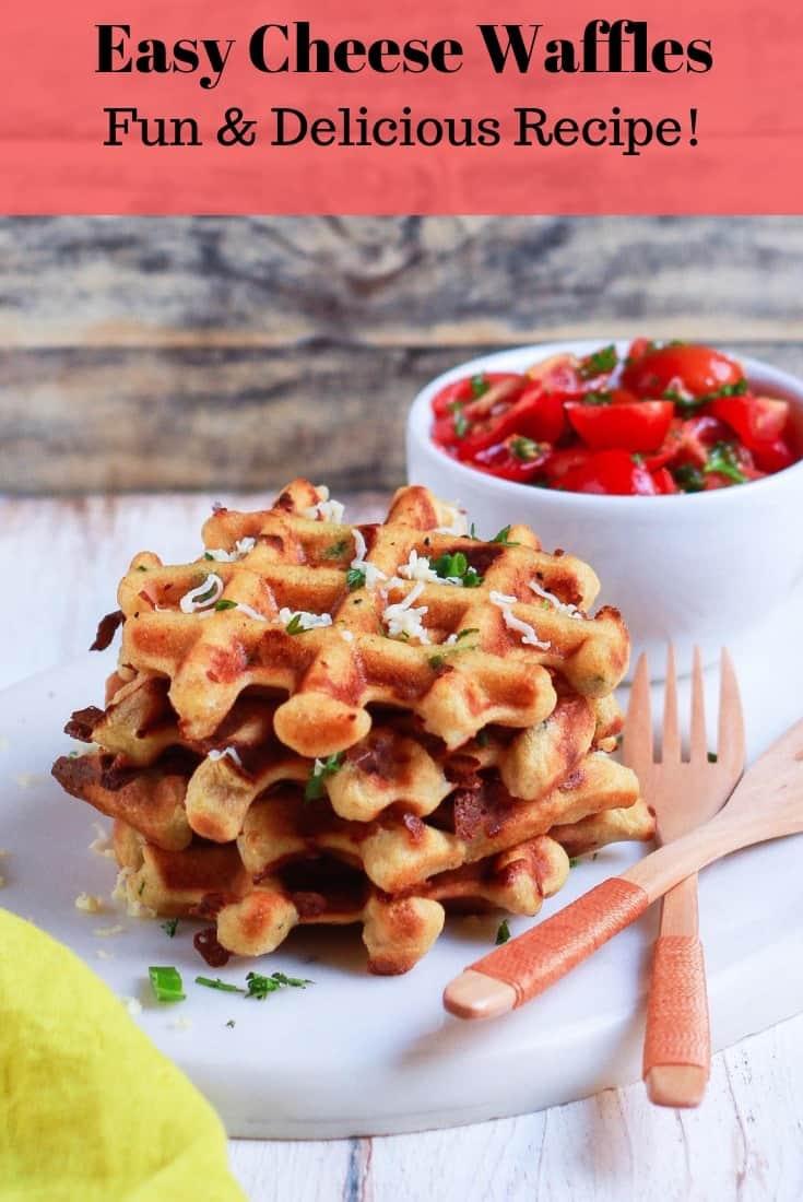 Easy Cheese Waffles | Savory Healthy Easy Recipe