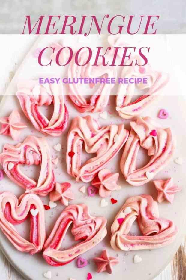 Meringue Cookie glutenfree easy baking Valentine's Day