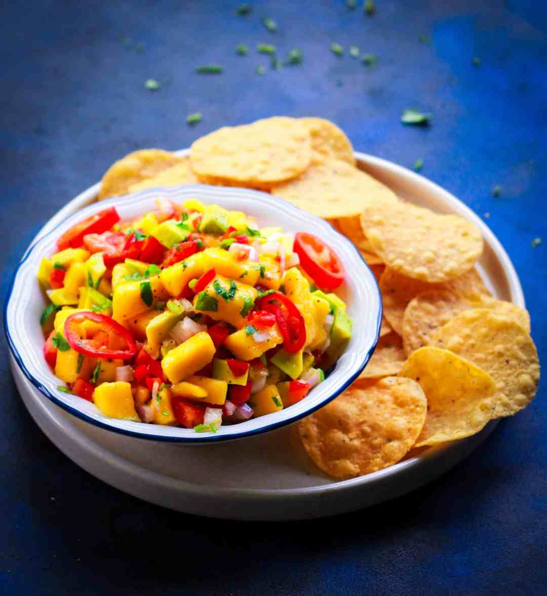 Mango Avocado Salsa vegan glutenfree healthy easy recipe