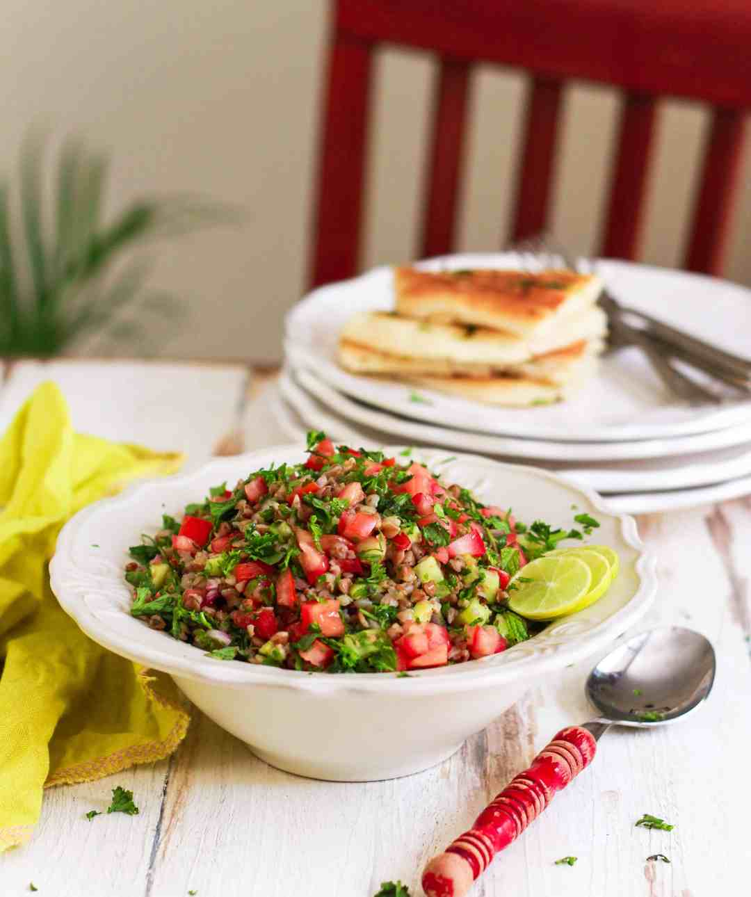 Buckwheat Tabbouleh Salad vegan glutenfree recipe