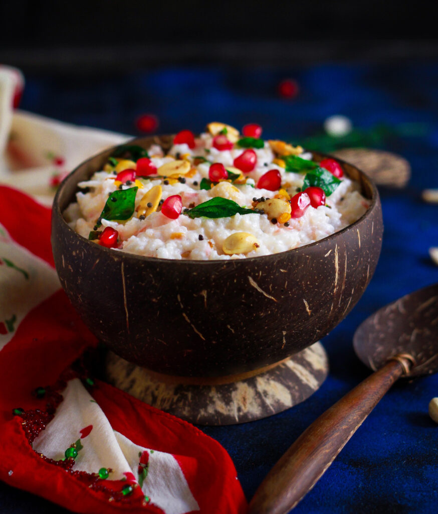 Curd Rice healthy vegetarian recipe