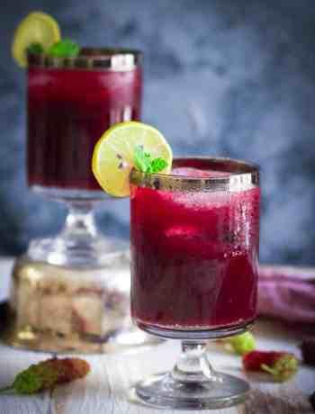 Mulberry Sharbat | Shahtoot Sharbat Summer cooler vegan healthy recipe