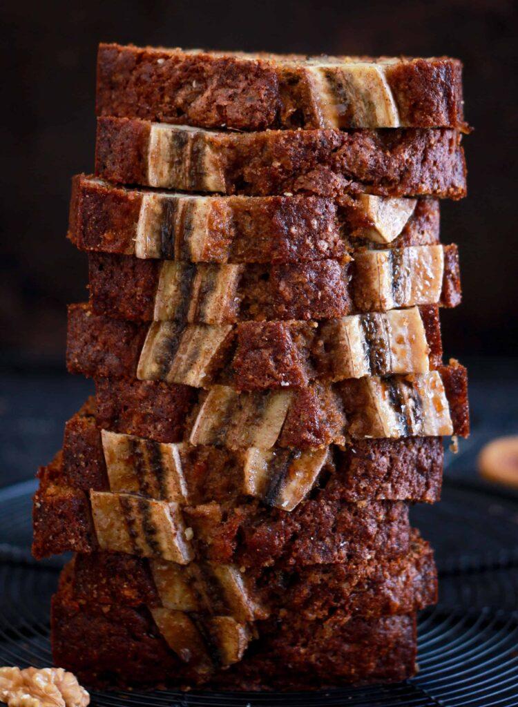 Walnut & Fig Banana Bread easy wholegrain baking