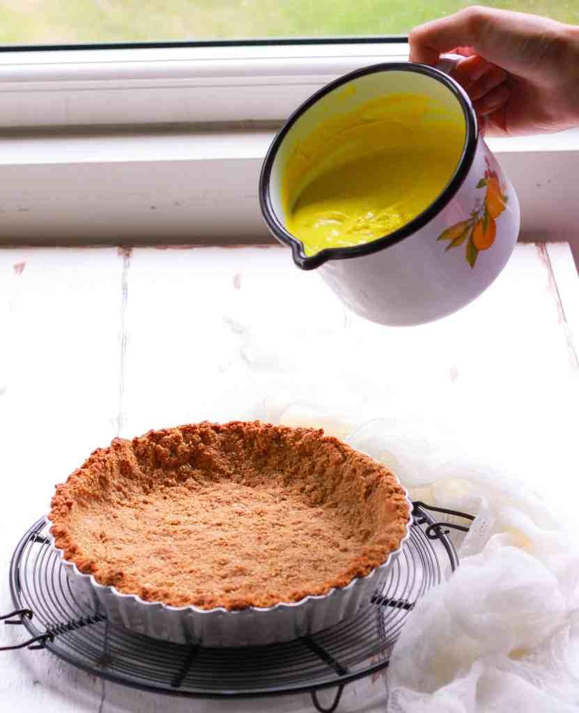 Vegan Lemon Tart easy dessert recipe Dairyfree Refined sugarfree