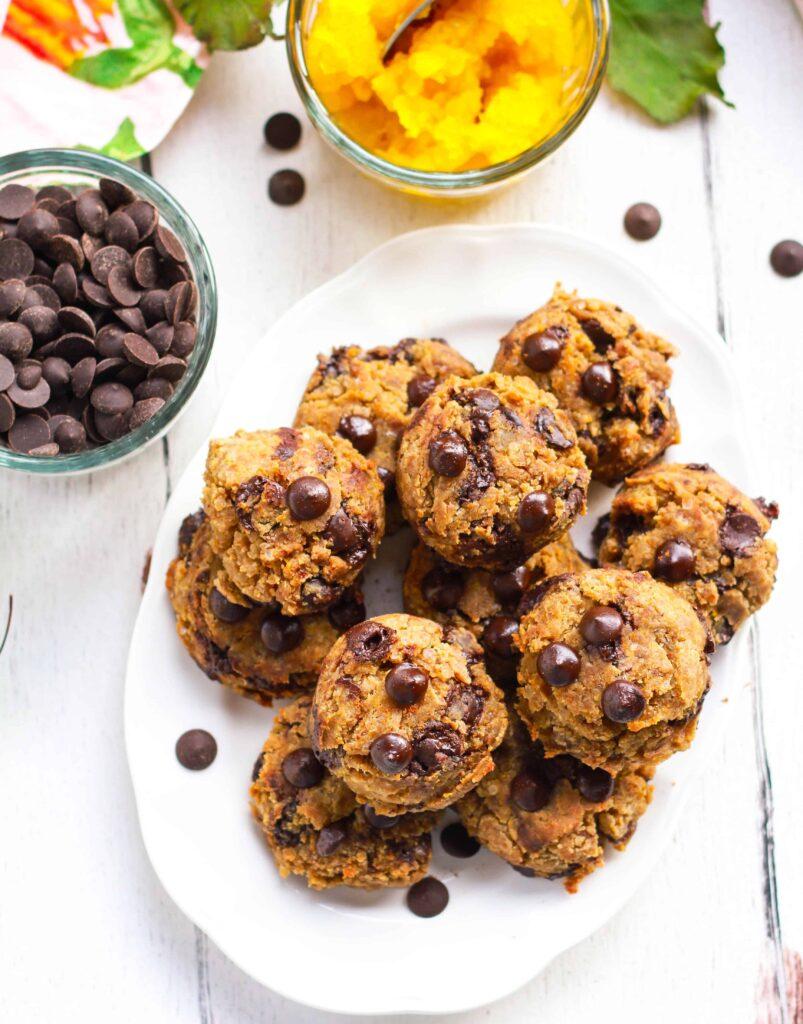 Pumpkin Chocolate Chip Cookies vegan glutenfree baking