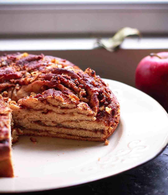 Vegan Apple Braided Bread Fall Baking