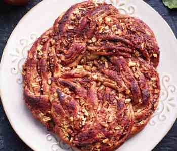 Vegan Apple Braided Bread Fall Baking