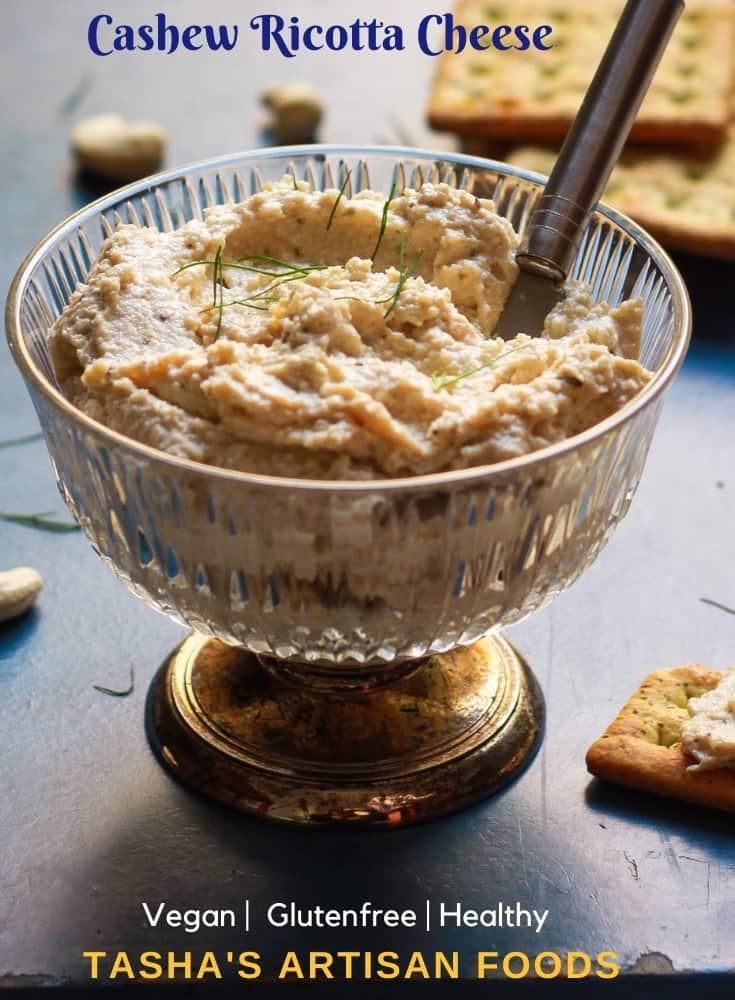 Cashew Ricotta Cheese easy vegan glutenfree recipe
