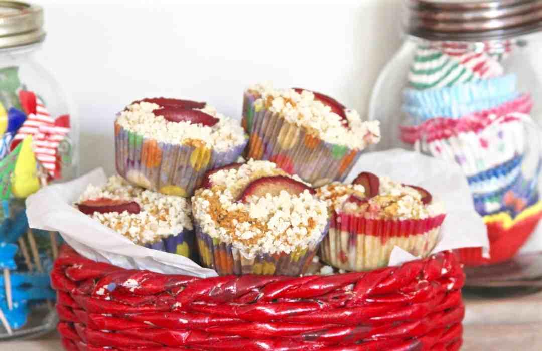 Plum & Cardamom Streusel Muffins