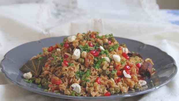 Fresh Green Chickpea Pulao