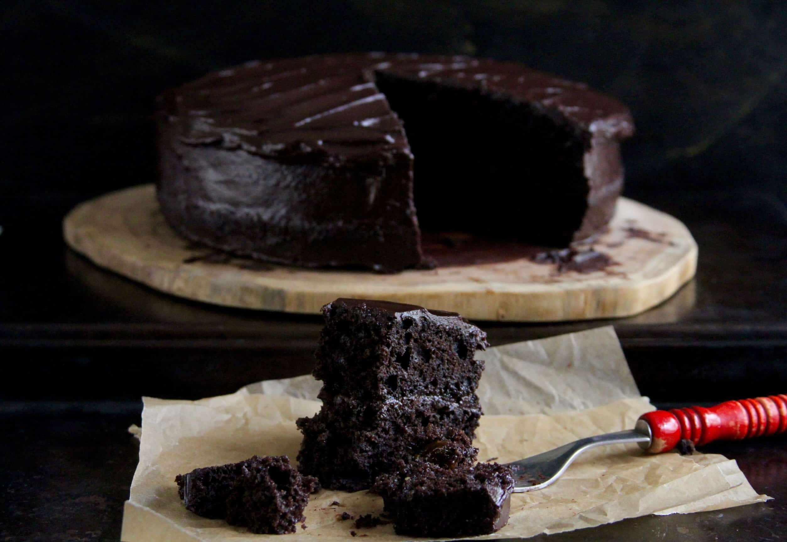 Buckwheat Chocolate Layer Cake w/ Salted Dark Chocolate Frosting ...