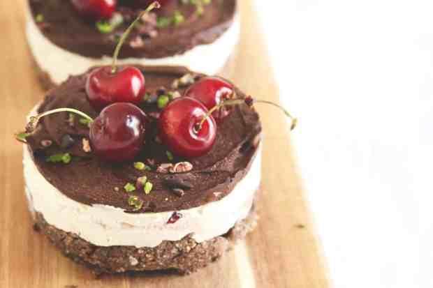 Raw Cherry Lemon Cheesecake