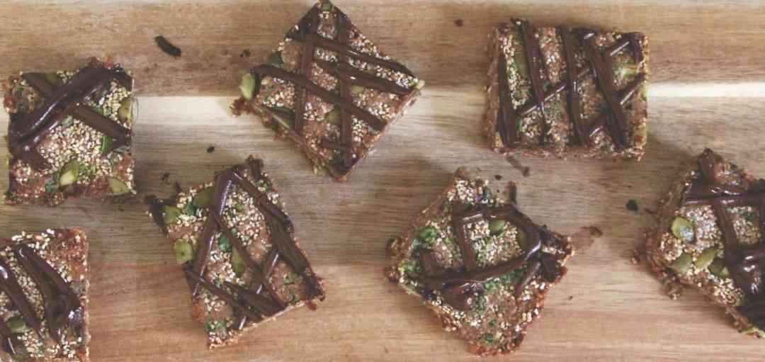 Raw Chocolate Amaranth Bars