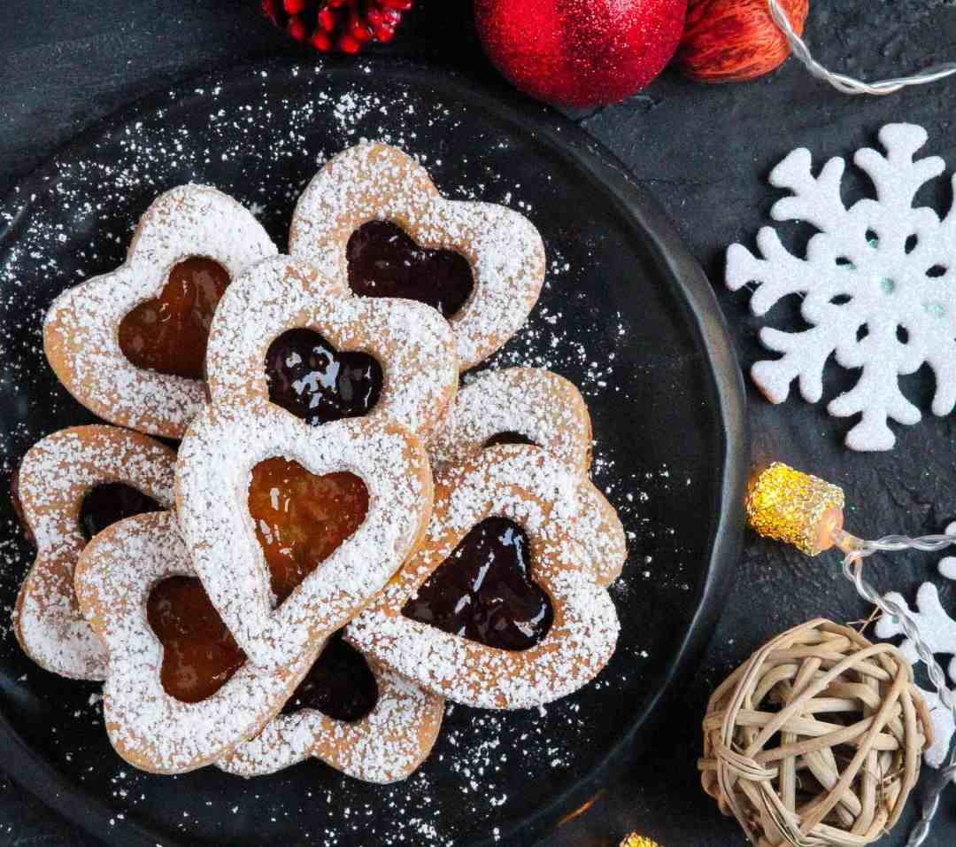 Almond Buckwheat Linzer Cookies eggless, glutenfree, christmas cookies ,holiday baking