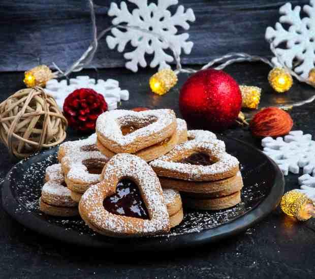 Almond Buckwheat Linzer Cookies eggless, glutenfree, christmas cookies ,holiday baking