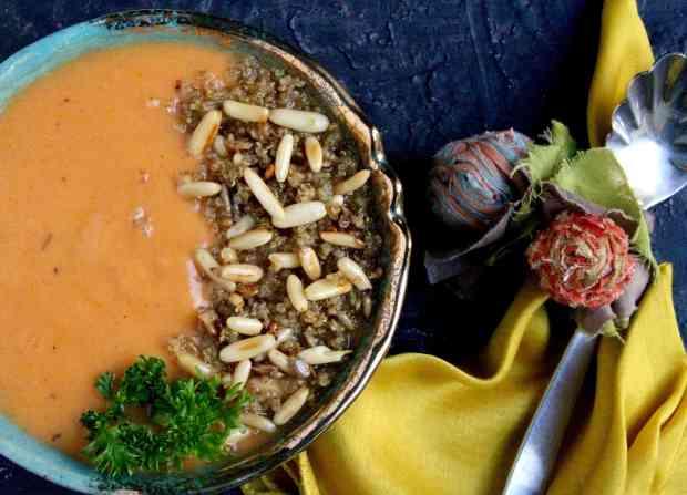 Roasted Sweet Potato and Pumpkin Soup