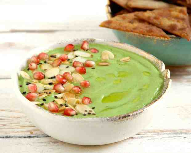 Avocado Cucumber Almond Dip