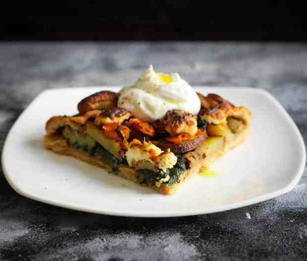 Sweet Potato Carrot Galette vegetarian, eggless, vegetables, healthy, easy recipe