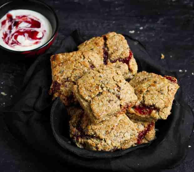 Lavender Buckwheat Jam Scones, vegan, glutenfree, vegetarian, dairyfree, scones, breakfast, snack, dessert