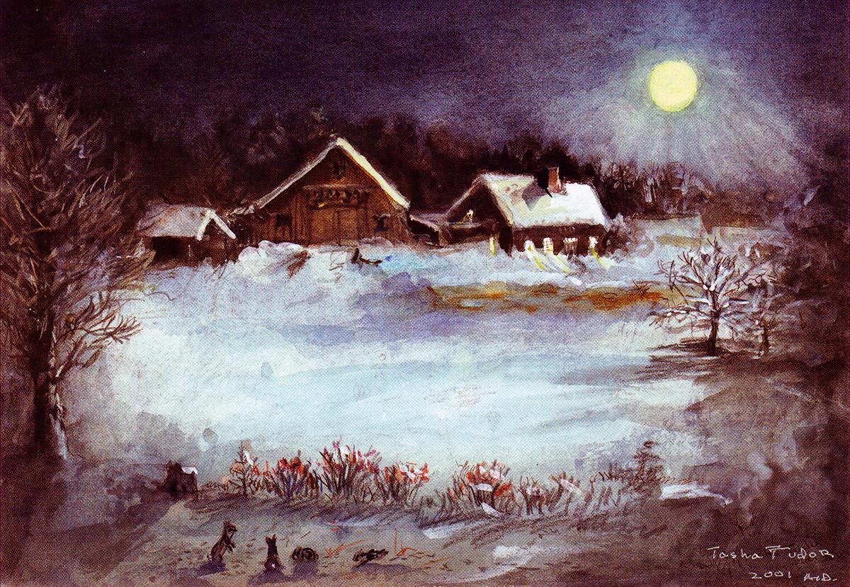 Winter Moon Cards Tasha Tudor And Family