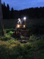 Kaj-Gunnar har fått rasta grävaren lite ikväll också