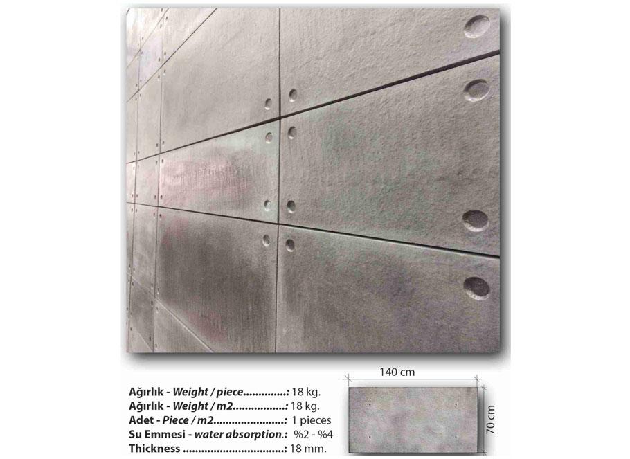 Seramik Blok Duvar Kaplama Brutal Plate