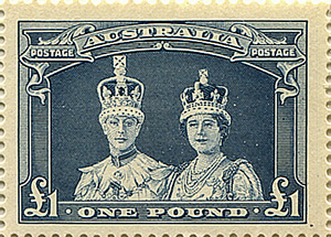 One Pound Robes Stamp