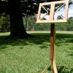 Music Stand constructed with reclaimed timberin Silky Oak, Huon Pine, Jarrah, Bunya Pine and Kuri Pine