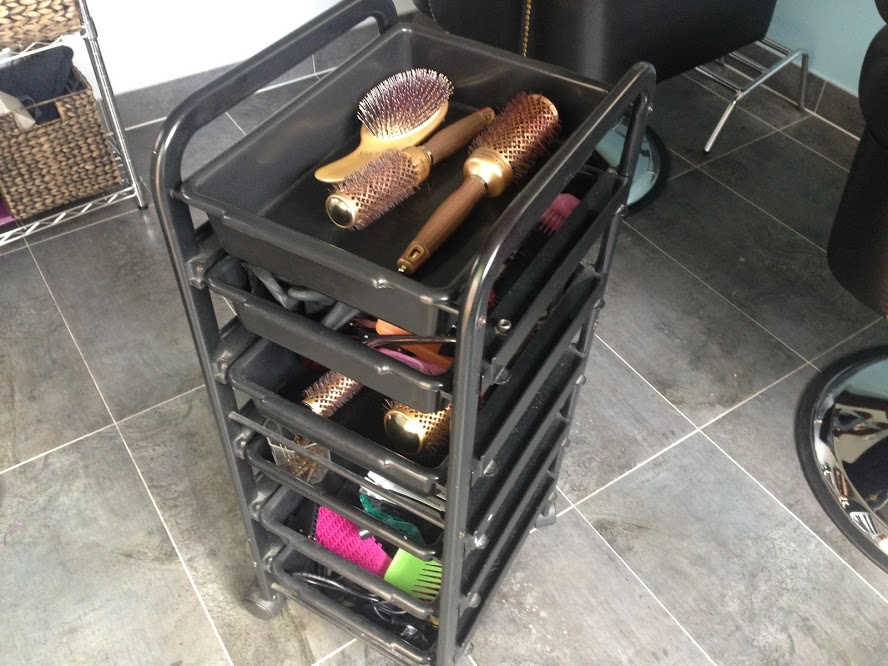 Express Hair and Beauty Trolly with limited space for hair care products