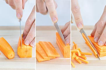 How To How To Prepare Julienne Carrots How To Taste Com Au