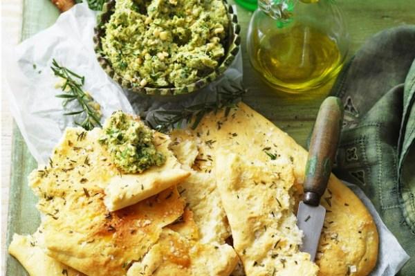 Olive Oil Rosemary And Salt Flat Bread Recipe Tastecomau
