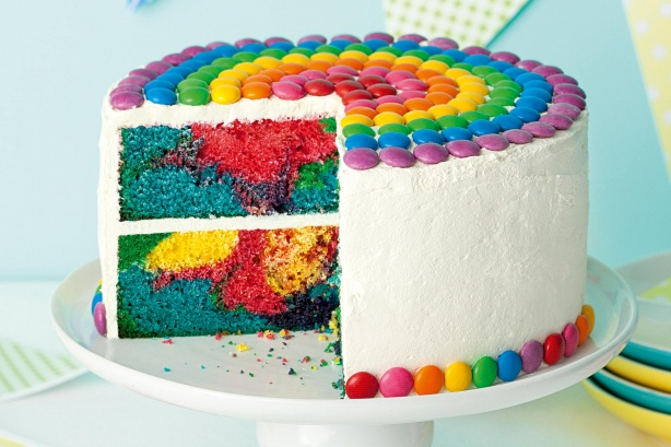 Bubblegum Rainbow Cake Recipe Taste Com Au