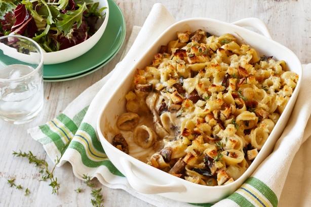 Mushroom and taleggio macaroni cheese