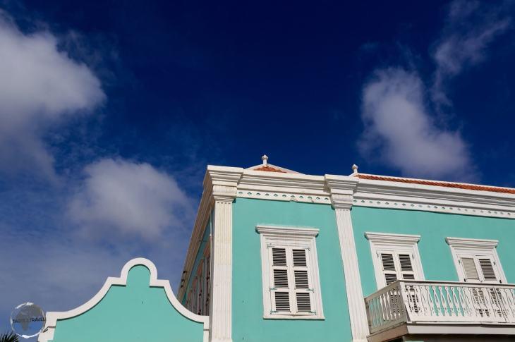 Bonaire Travel Guide: Dutch-style buildings in downtown Kralendijk, the capital of Bonaire.