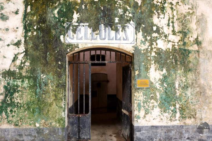 Entrance to prison cells on Îles du Salut